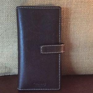 Coach brown  credit card holder